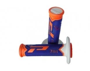 Manopla Acerbis Grip Cross 788 Extra Slim Fluo Naranja/azul/blanco