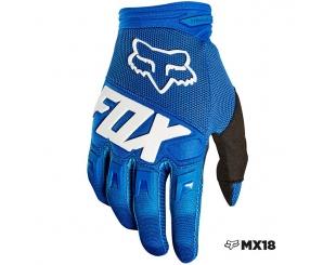 Guantes Fox Dirtpaw Race Azul Talle M