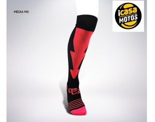Medias Termicas Mx Cross Roads Negra/roja