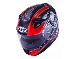 Casco Kyt Venom Open Strike Negro/rojo Talle S