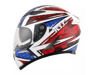 Casco Kyt Falcon All Star Rojo/azul Talle Xl