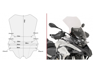 Parabrisas Givi Transparente Benelli Trk502 (17-18) D8703st (incluye Kit Anclaje)