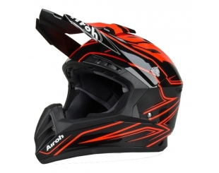 Casco Airoh Switch Spacer Naranja Brilloso Talle M
